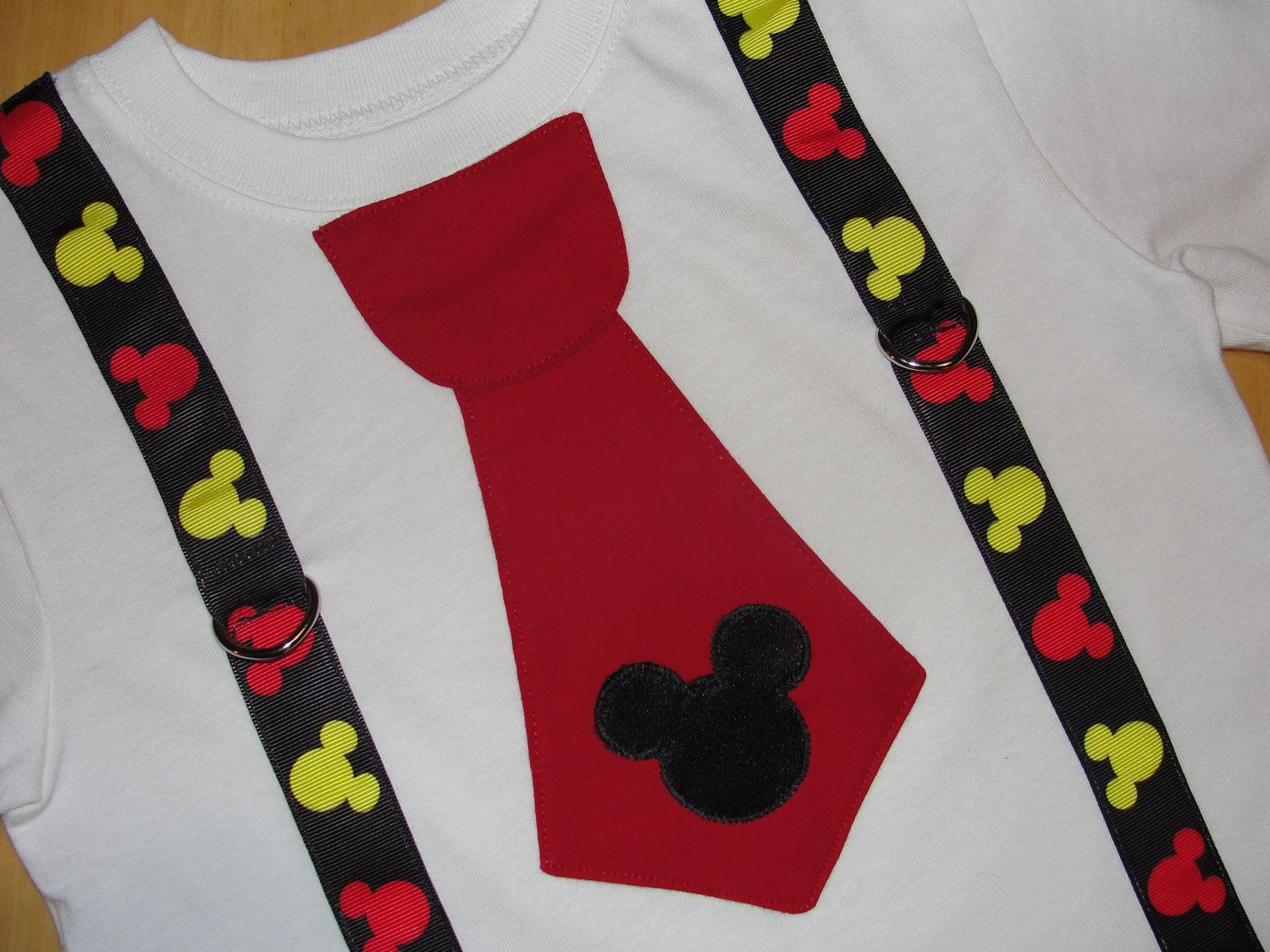 8bd6304f1 Mickey Mouse Tie T Shirt Mickey Suspenders Little Man Tie Disney Vacation  or Birthday Outfit Disney Toddler Clothes. $21.95, via Etsy.