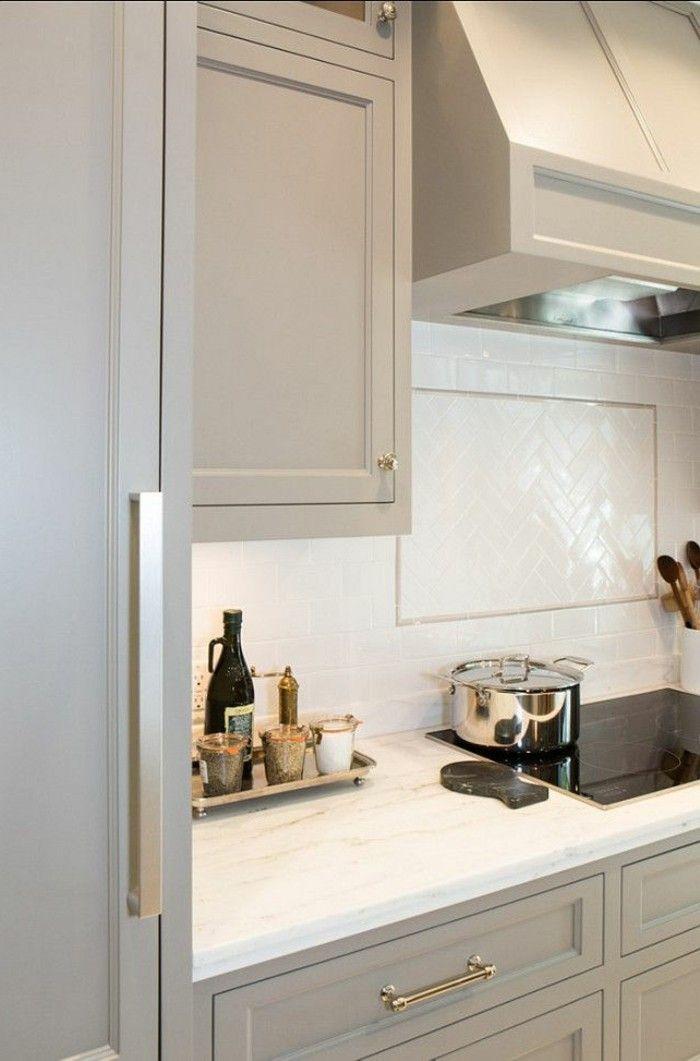 Comment repeindre une cuisine, idées en photos! Cuisines grises - meuble en bois repeint