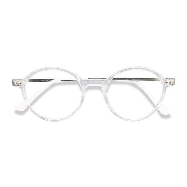 9bb5d47f06a Men s Hijinks - Clear round metal plastic - 19599 Clear Rx Eyeglasses ( 22)  ❤ liked on Polyvore featuring men s fashion