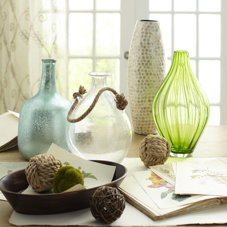 Rope Handle Bubble Glass Vases Pier 1 Imports Vases Decor