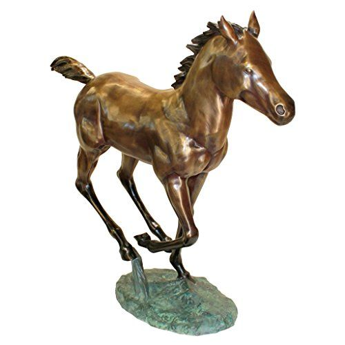 Design Toscano Galloping Horse Foal Cast Bronze Garden Statue ** More info could be found at the image url.