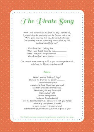 The Pirate Song | gift ideas | Pinterest | Pirate songs, Songs and Pirate theme