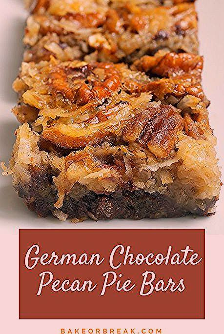 Photo of German Chocolate Pecan Pie Bars