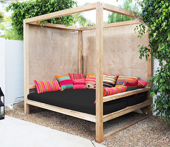 Outdoor Bed diy outdoor daybed | summer tutorials and ideas | pinterest