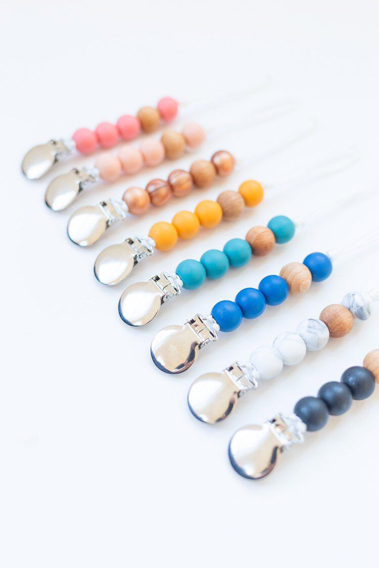 Bead Dummy Clip Holder Pacifier Soother Chains Baby Teething Selling Practical