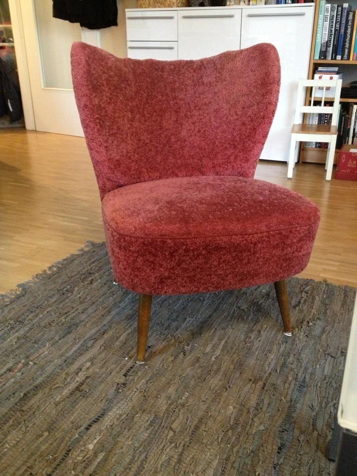 50er jahre sessel original federkern polster sessel. Black Bedroom Furniture Sets. Home Design Ideas
