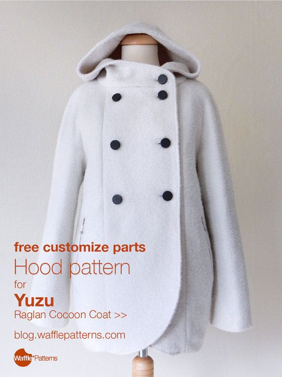 PDF sewing pattern Women Raglan Coat -Yuzu- (size 34-48) | costura ...
