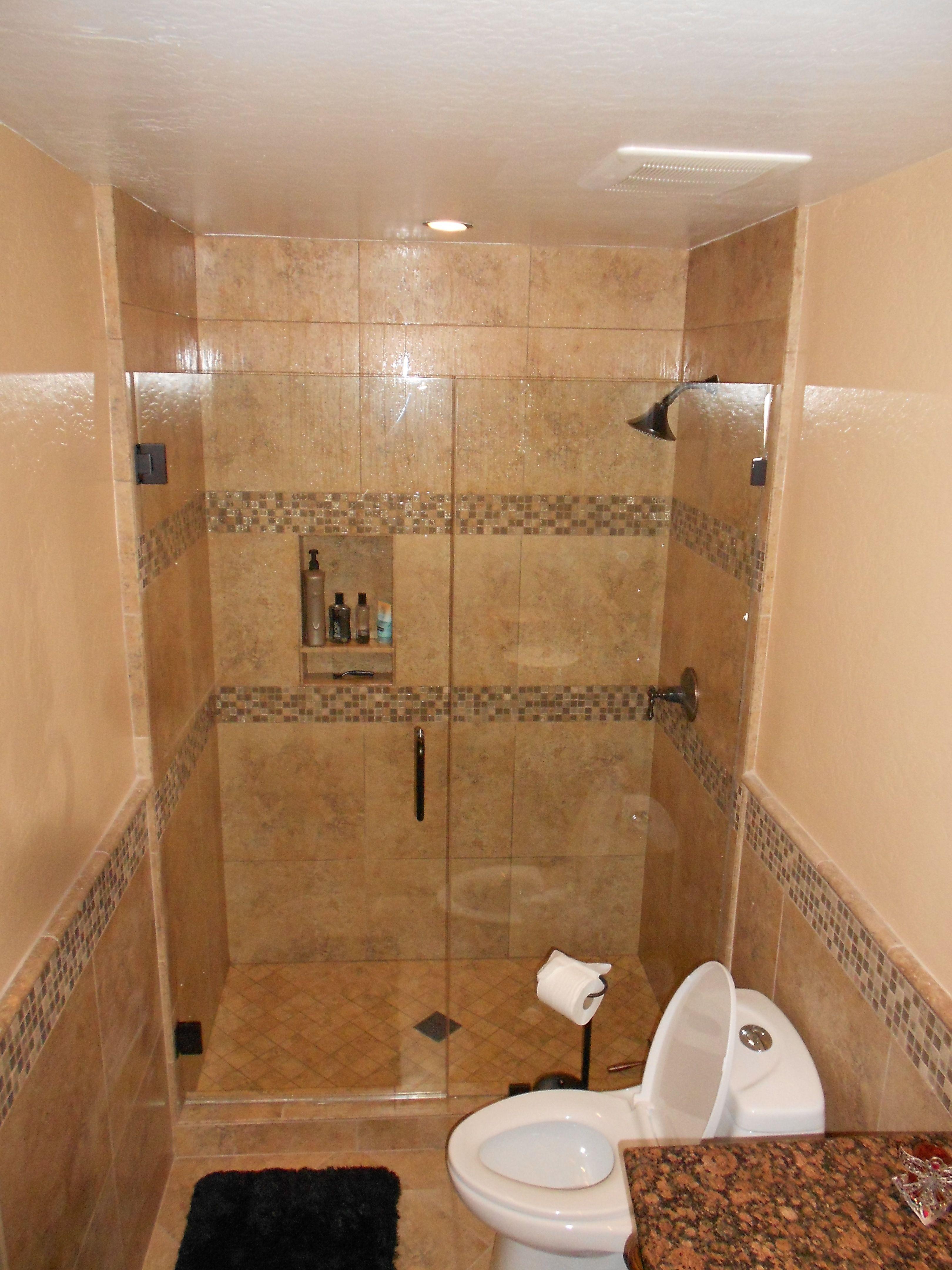Hall Bath shower surround with double deco band. | Hall Baths ...