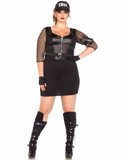 39059adf8dc5d4 Plus Size SWAT Officer Sexy Costume   Cosplay Ideas ♥   Plus size ...