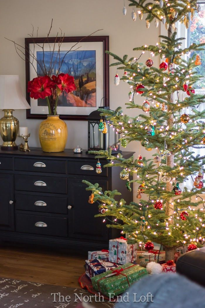 The North End Loft In 2020 Small Christmas Trees Christmas Inspiration Christmas Interiors