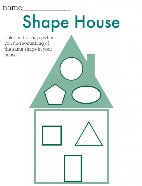 Shape Hunt Worksheet - FREE Printable | Pinterest | Free printable ...