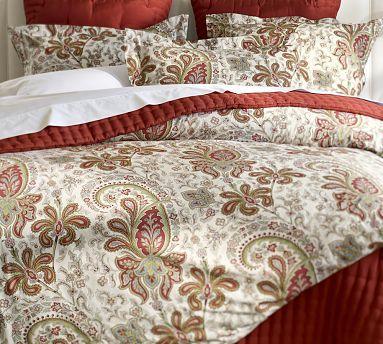 Charlie Paisley Organic Duvet Cover U0026 Sham   Red #potterybarn Nice Ideas