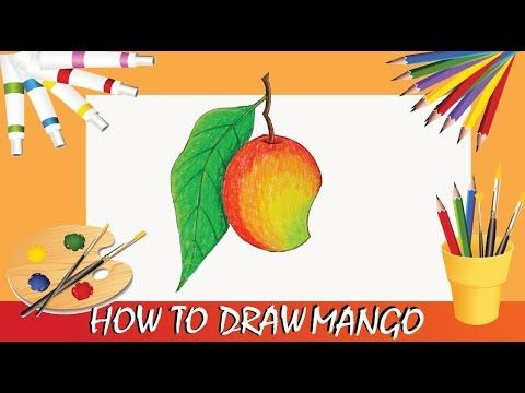 Lear How To Draw With View Fun How To Draw Mango Step By Step Pastels Color Drawings Pastel Colors Water Drawing