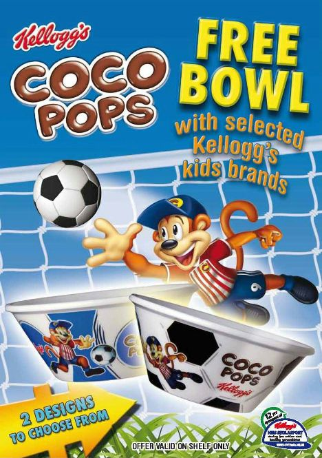 ON PACK PROMOTION Kellogg's Offer Free Footballthemed Cereal Simple Kellogg's Cereal Display Stand
