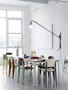 Swing Lamp Wall Or Floor Over Dining Table So Can Be Moved More