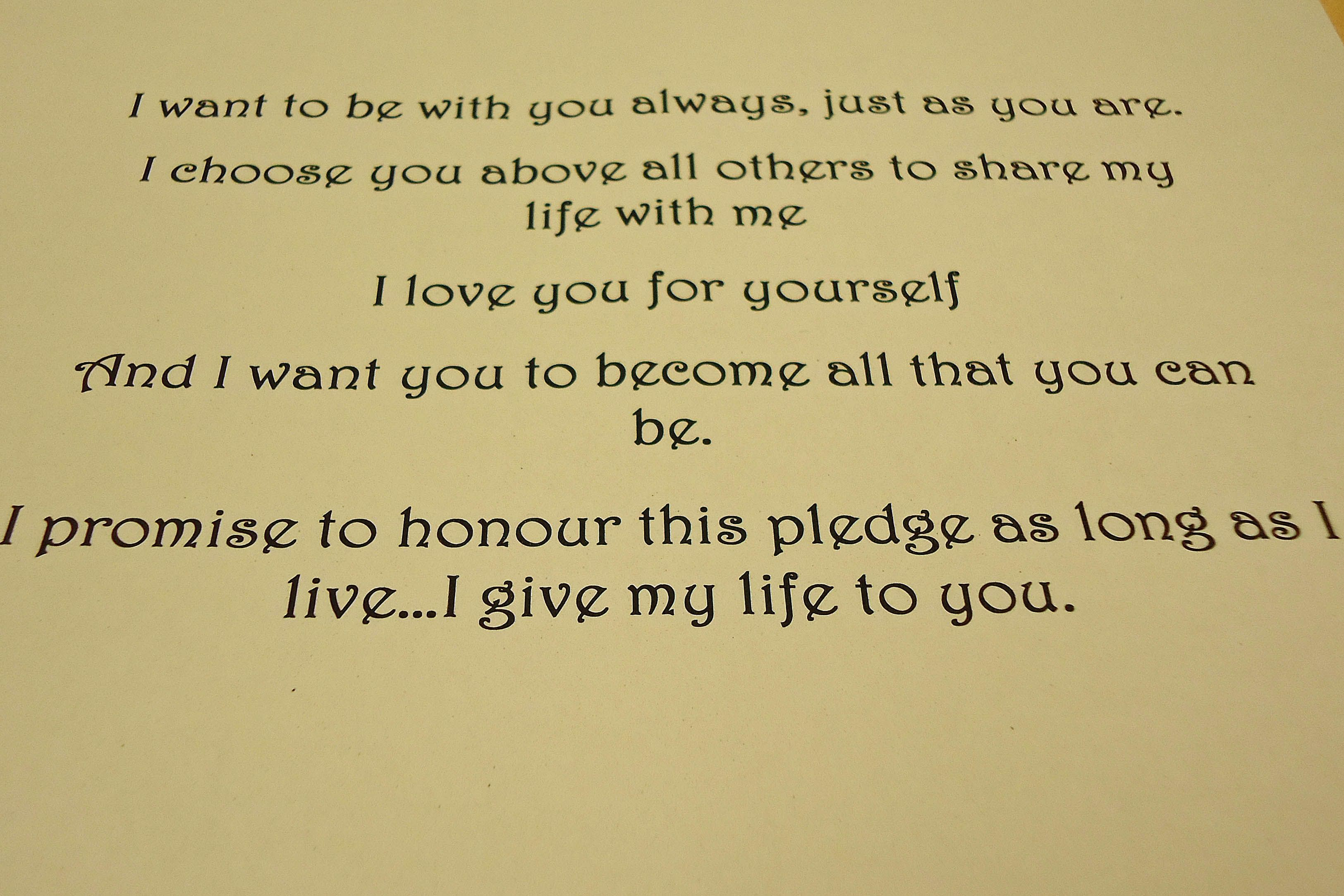Day 2 Words Our Wedding Vows 3 Marriage Vows Vows Wedding Vows