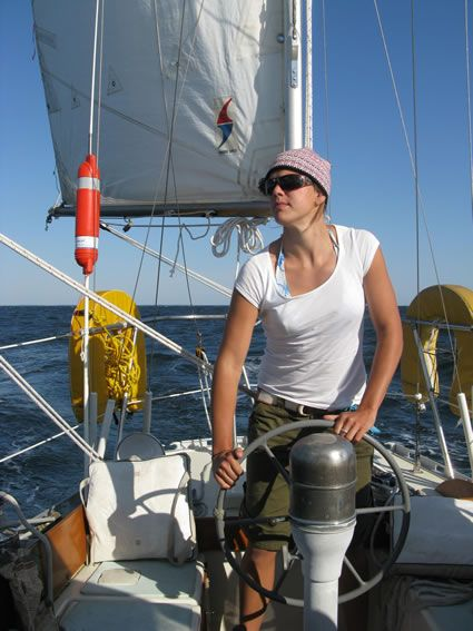 At The Helm Of The Yawl From Around The World By Sailboat How To
