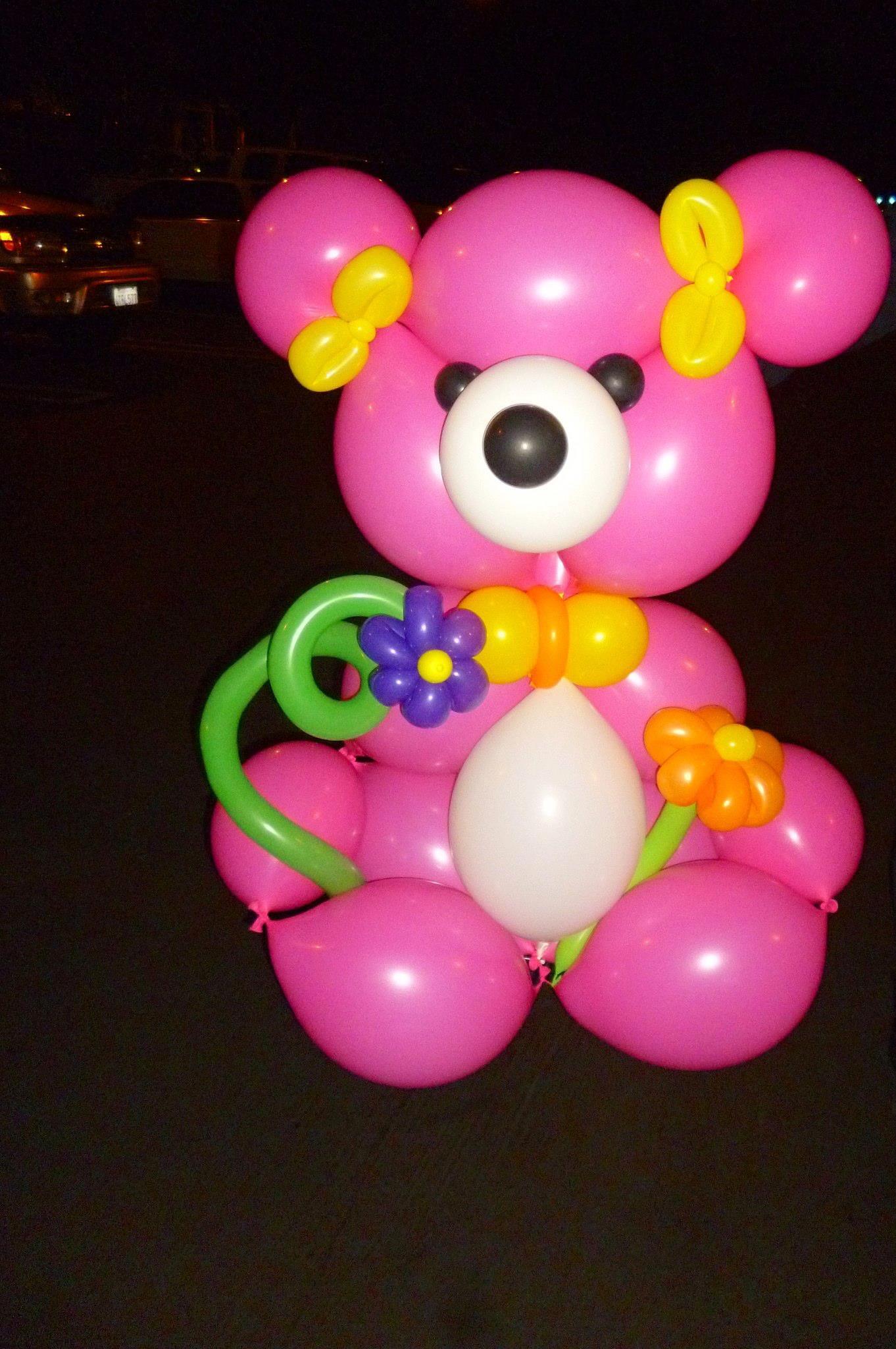 """LINK-O-LOON® teddy bear...so cute in big 12"""" or small 6"""" size LOLs."""