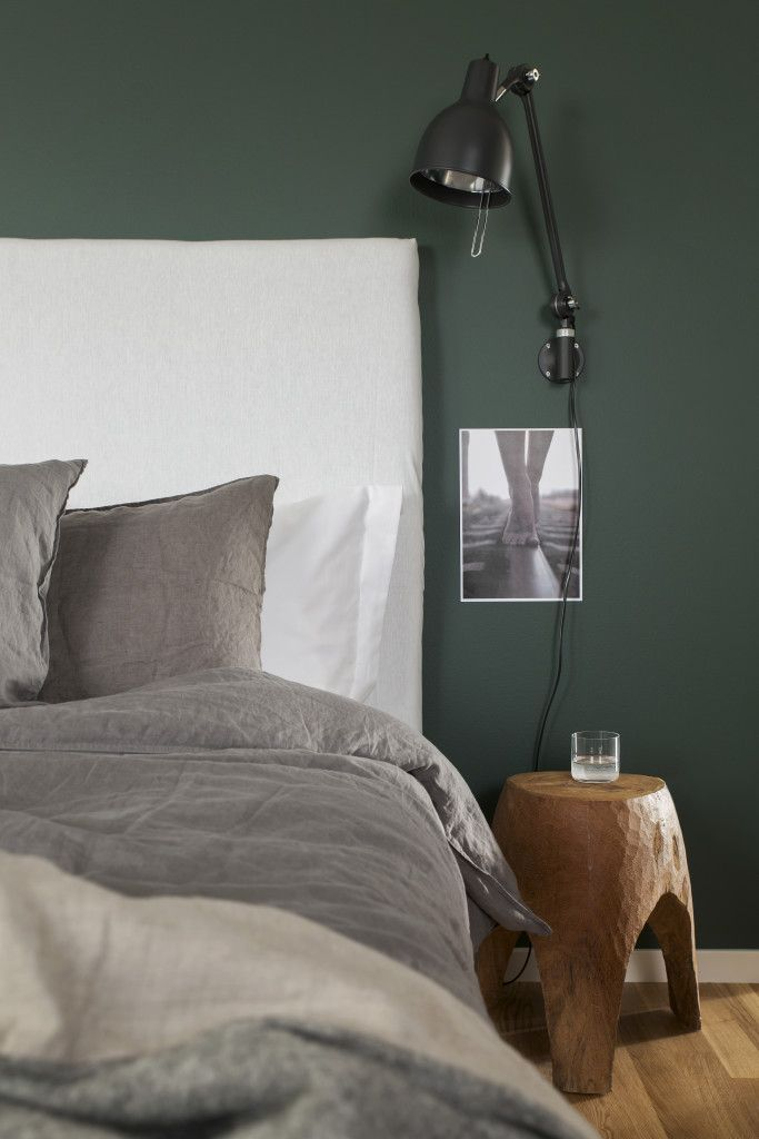 Forest Green Bedroom Wall