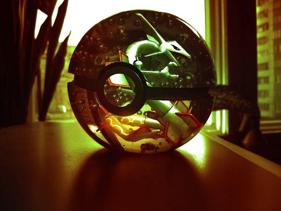 The Pokeball of Rayquaza by wazzy88.deviantart.com on @deviantART