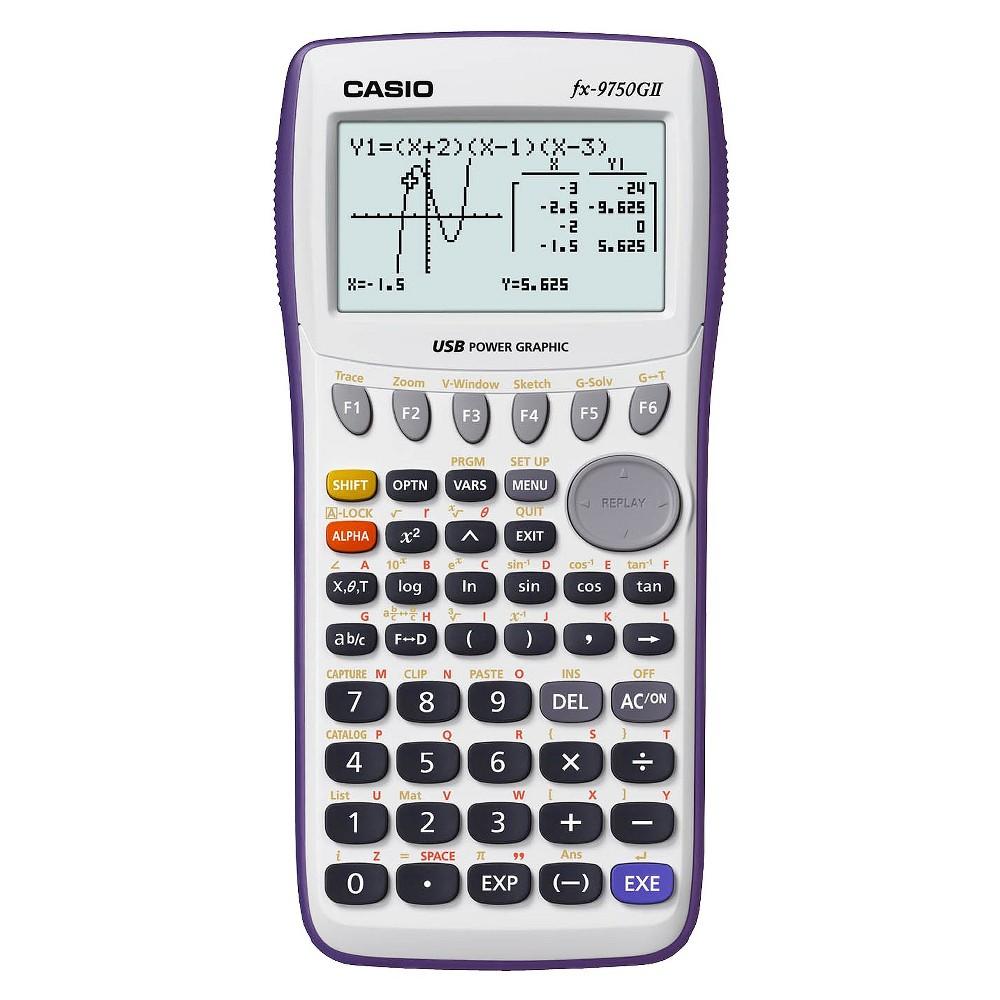 Casio Fx 9750gii Graphing Calculator White Fx9750gapl Calculator Graphing Calculator Graphing