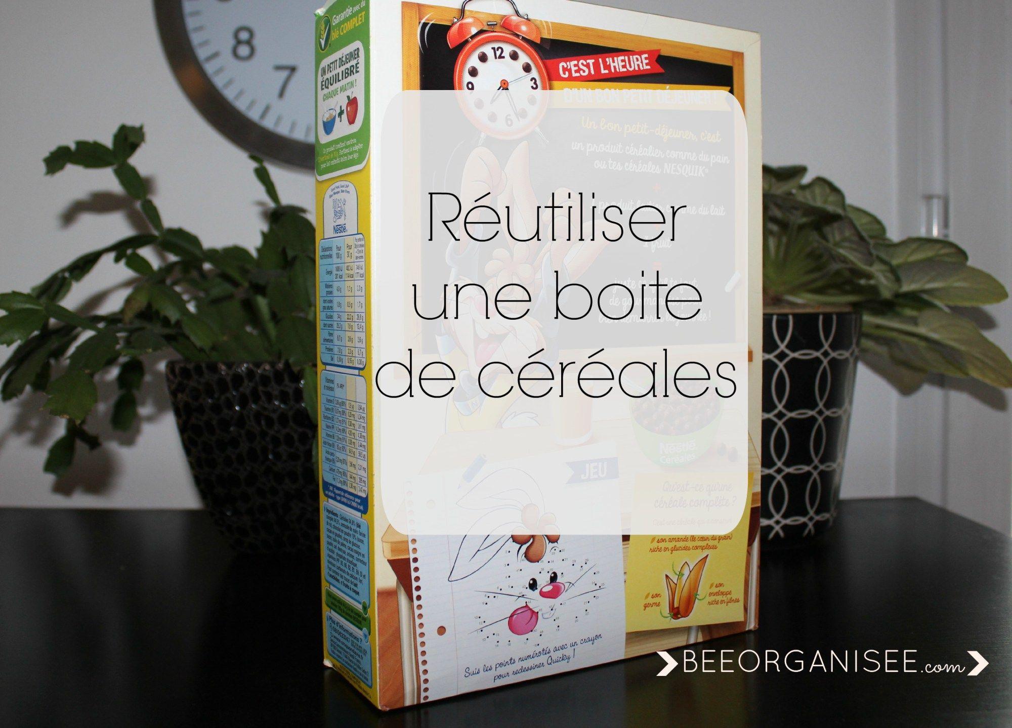 Réutiliser une boite de céréales | Réutiliser, Boîtes de céréales et Customiser boite