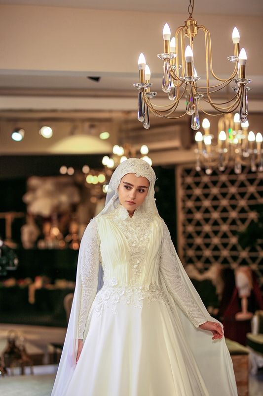 Photo of hijab wedding dresses