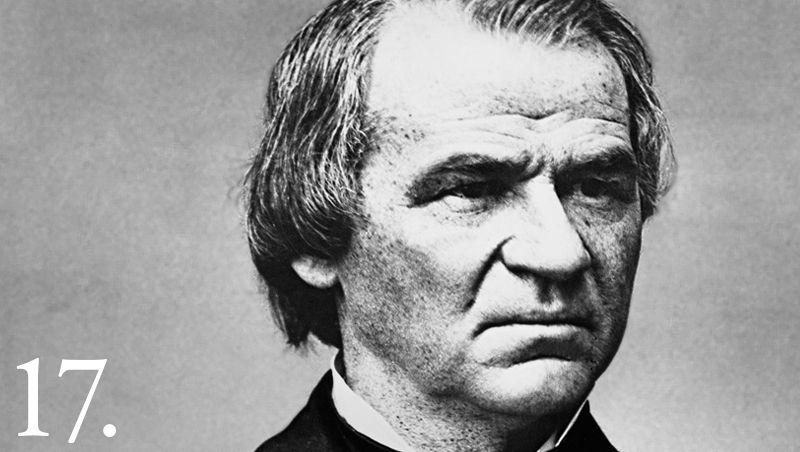 With the assassination of President Abraham Lincoln, Andrew Johnson became the 17th President of the United States (1865-1869), an old-fashioned southern Jacksonian Democrat of pronounced states' rights views.