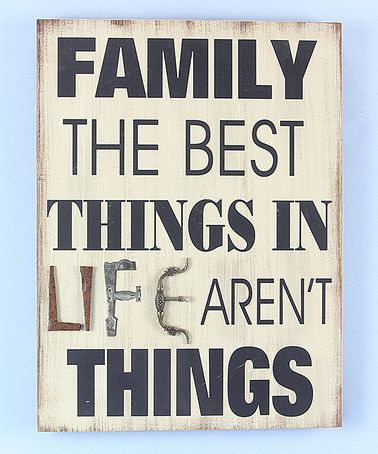This 'Best Things In Life' Wall Art is perfect! #zulilyfinds