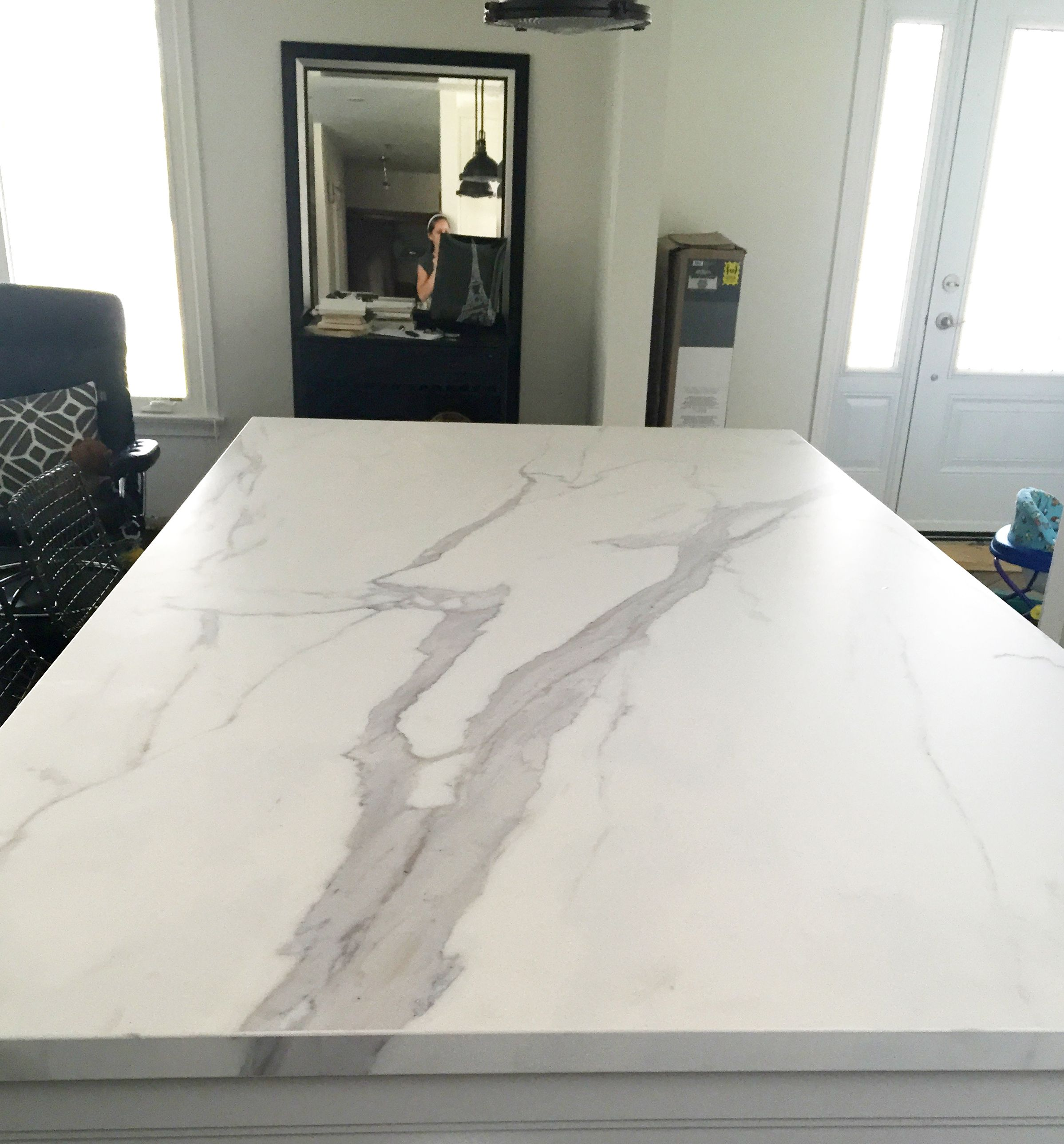 a honed 12mm #neolith #kitchen counter in a statuario #marble