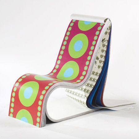 Darwin Stuhl 200 Unterschiedliche Papierlagen Von Stefan Sagmeister Stefan Sagmeister Chair Design Design Milk