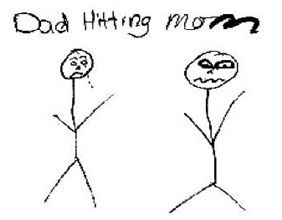 Children Learn What They Live Child Drawing Dad Hitting Mom Break The Cycle Of Violence Get Help