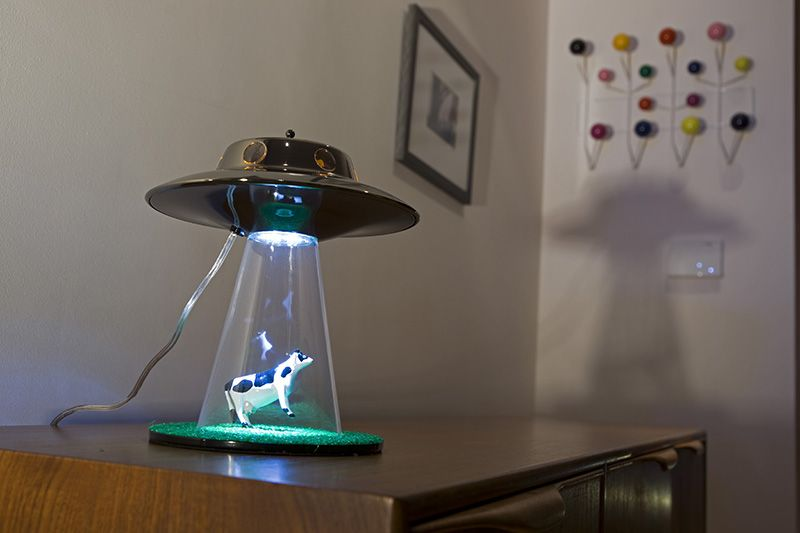 Ufo Table Lamp: Alien Abduction light - UFO lamp by Lasse Klein is a unique lighting unit  which is shaped like an UFO. Sweet Light Design Alien Abduction Lamp|UFO  Lamp,Lighting