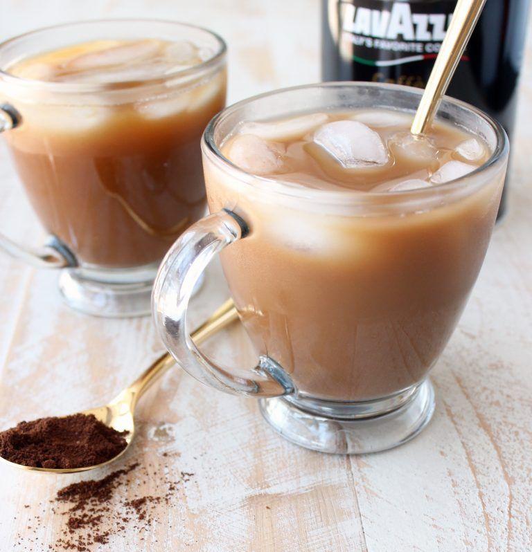 Mocha Coconut Iced Latte Via Whitney Bond For Cost Plus
