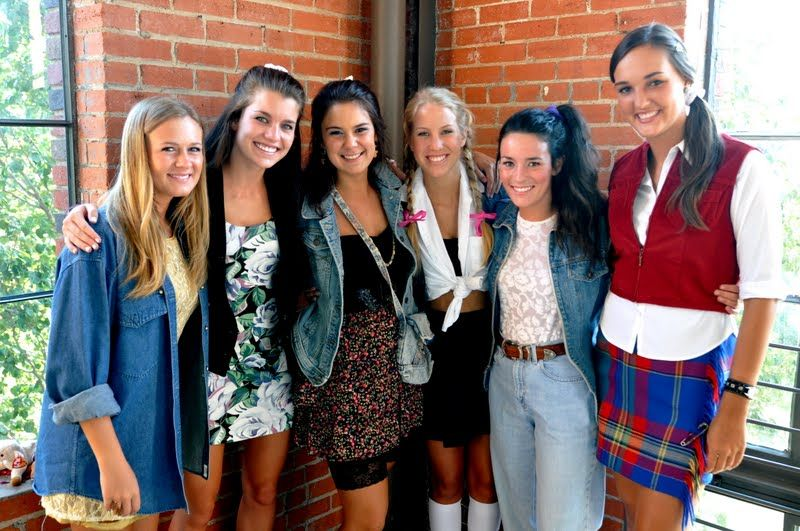 Theme Party Dress Up Ideas - Jean Jackets, High Waisted Pants, Side Ponytails, And Britney