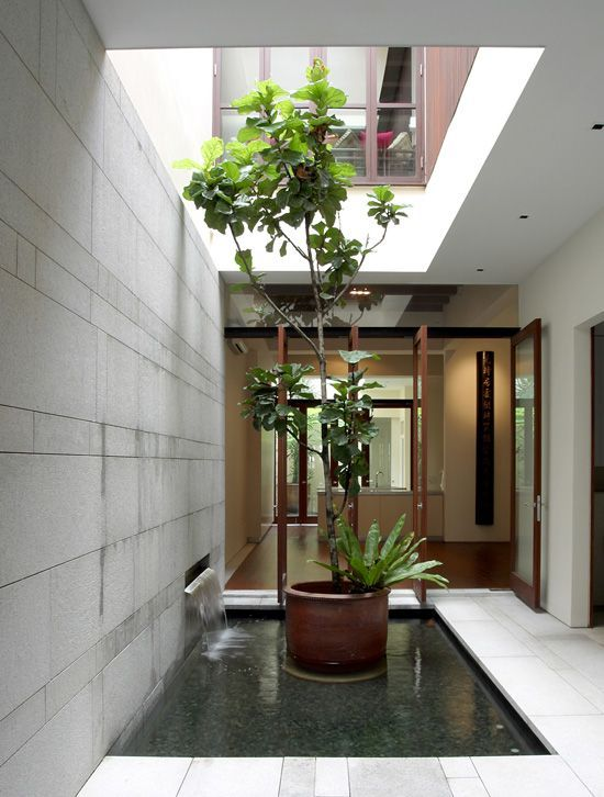 Internal courtyard or an airwell typical to most for Interior courtyard designs