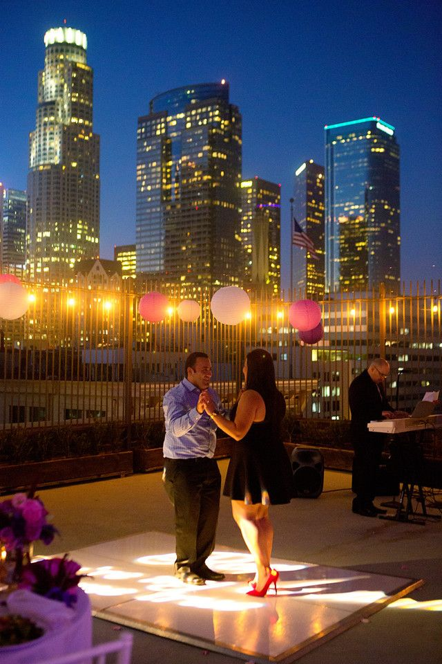 Los Angeles Rooftop Proposal With Salsa Band Rooftop Proposals