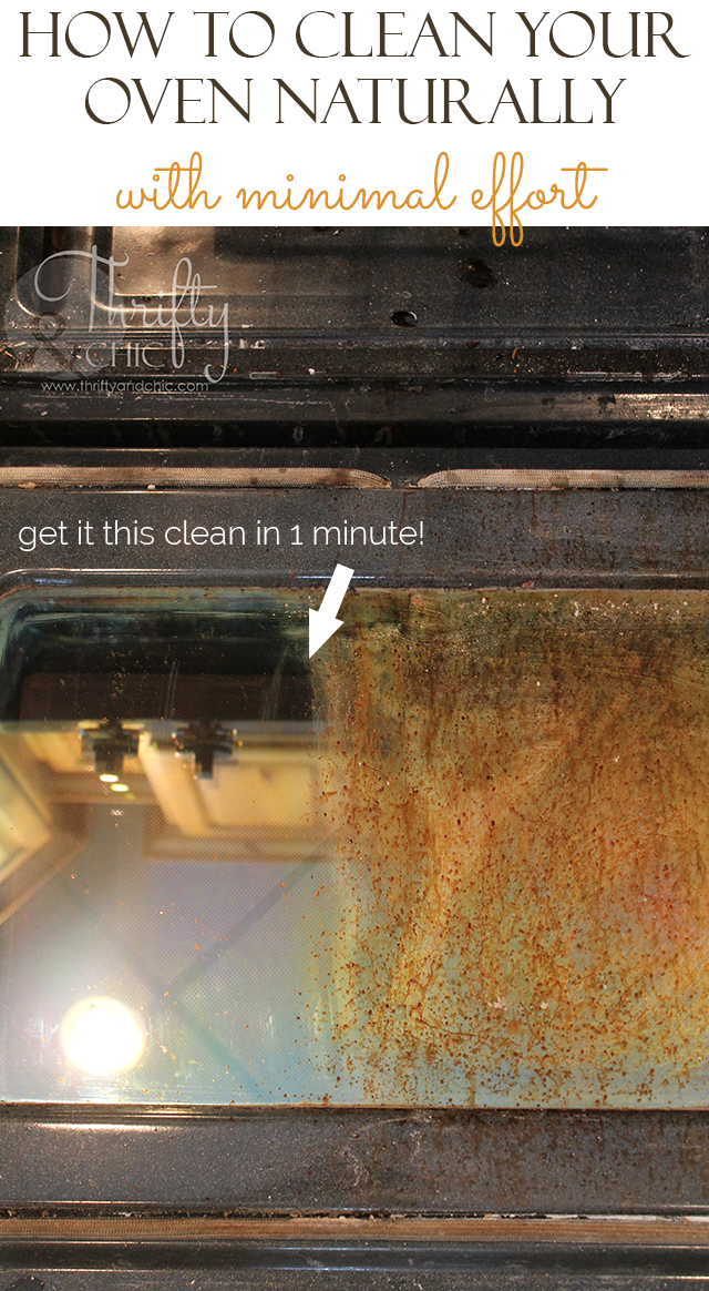 how to clean oven naturally quickly