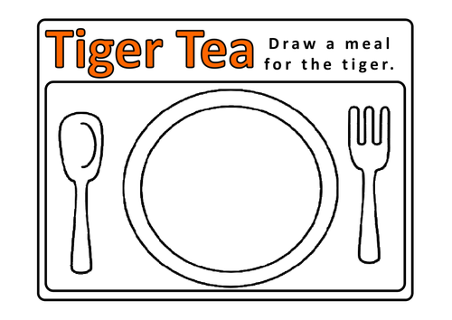 Image result for tiger who came to tea activities eyfs