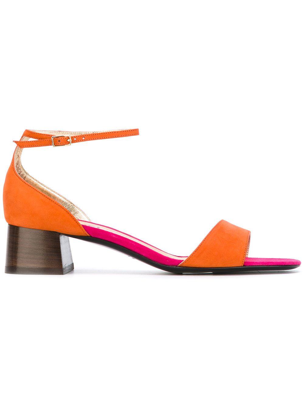 block heel sandals - Yellow & Orange Michel Vivien B9hheW4