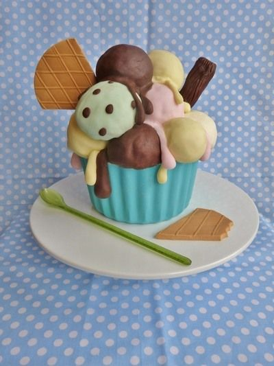 Icecream cake tutorial Videos tips y tutoria Pinterest Cake