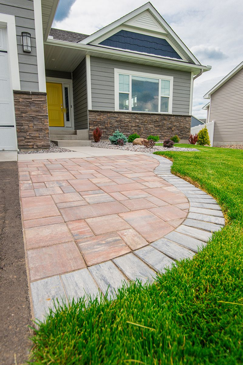 Paver walkway to Home Lawn care, Paver walkway, Patio