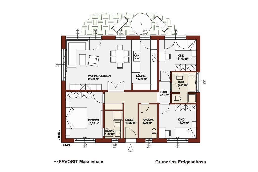 Favorit Massivhaus Haus grundriss, Haus und Grundriss