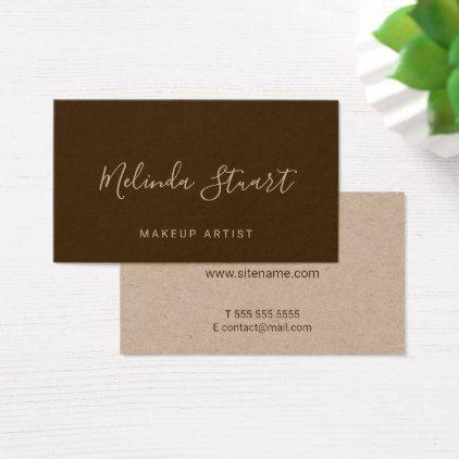 Professional modern script kraft paper business card kraft paper professional modern script kraft paper business card reheart Image collections