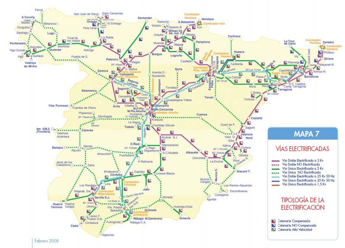 Mapa De Trenes España.Pin De Scott Talentino En Spanish Mapas Espana Y Geografia