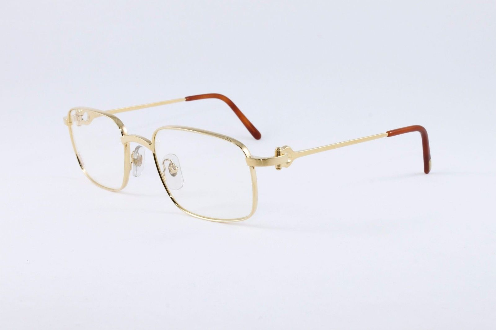2ce3a310609a Cartier Square Brushed Pale Gold Eyeglasses T8100454 Frames Authentic  France New 761675939698