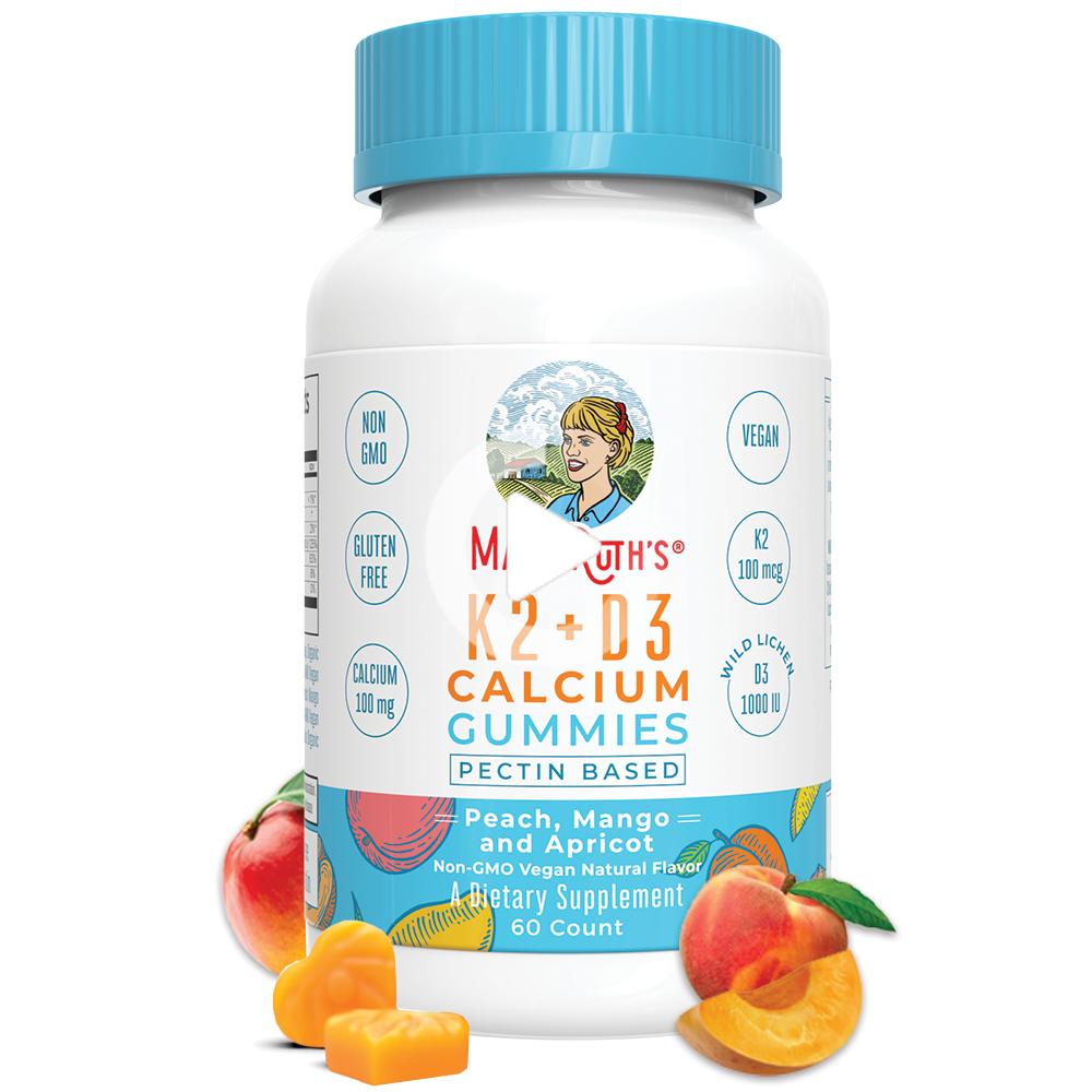K2 + D3 Calcium Gummies (60 fitness