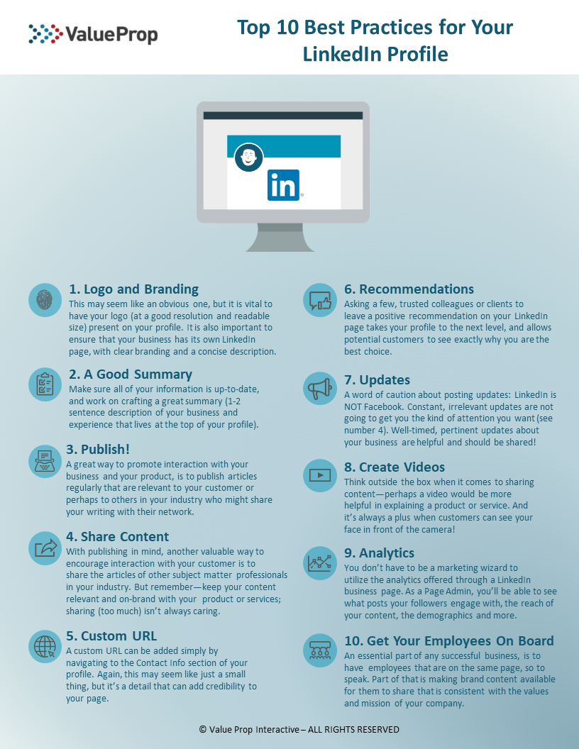 Top 10 Best Practices For Your LinkedIn Profile | Search Engine
