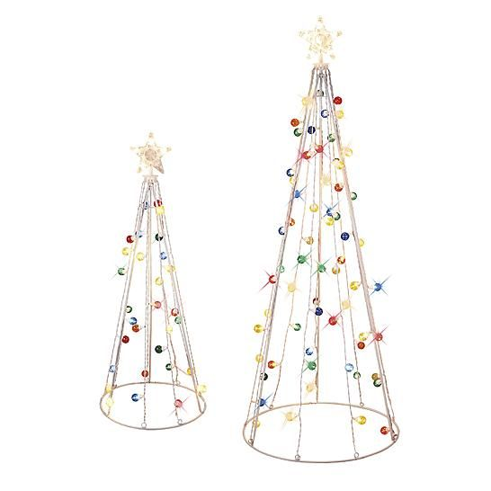 3 5 twinkling conical trees set 4049 at kmart - Kmart White Christmas Tree
