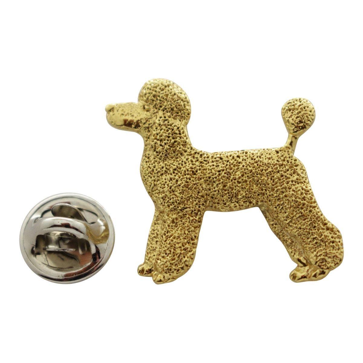 Poodle Puppy Clip Pin ~ 24K Gold ~ Lapel Pin